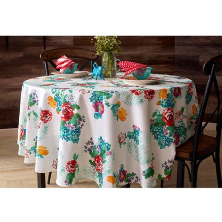 The Pioneer Woman Country Garden Tablecloth Round 70 In