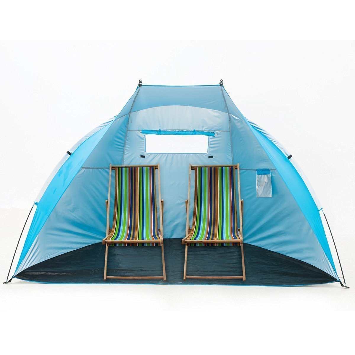 """iCorer Outdoor Portable EasyUp Beach Cabana Tent Sun Shelter Sunshade, Blue, 94.5""""L x 47.2""""W x 55""""H by iCorer"""