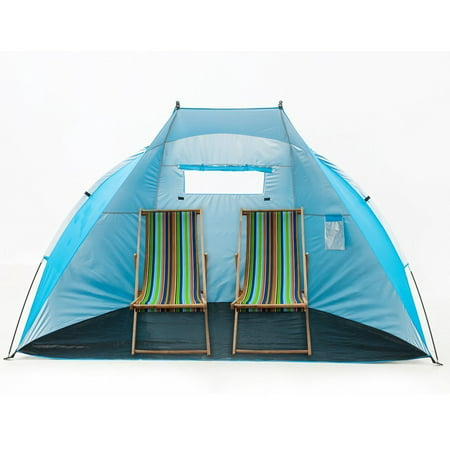"iCorer Outdoor Portable EasyUp Beach Cabana Tent Sun Shelter Sunshade, Blue, 94.5""L x 47.2""W x 55""H"