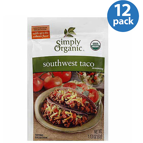 Simply Organic Southwest Taco Seasoning Mix, 1.13 oz, (Pack of 12)