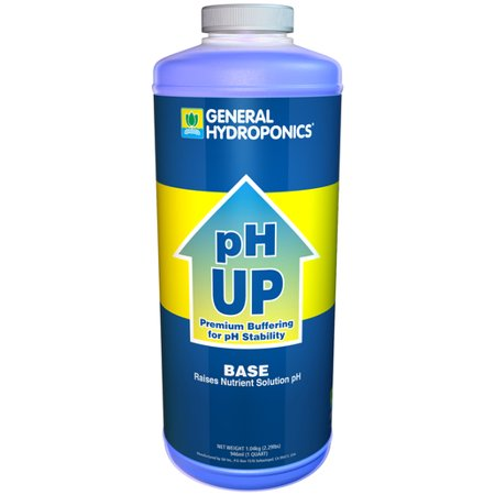Ph Up Liquid Ph Adjuster   1 Quart   By General Hydroponics   Microgreens  Seed Starting