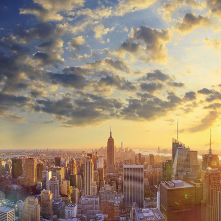 - Usa, New York, Manhattan, Top of the Rock Observatory, Midtown Manhattan and Empire State Building Print Wall Art By Michele Falzone