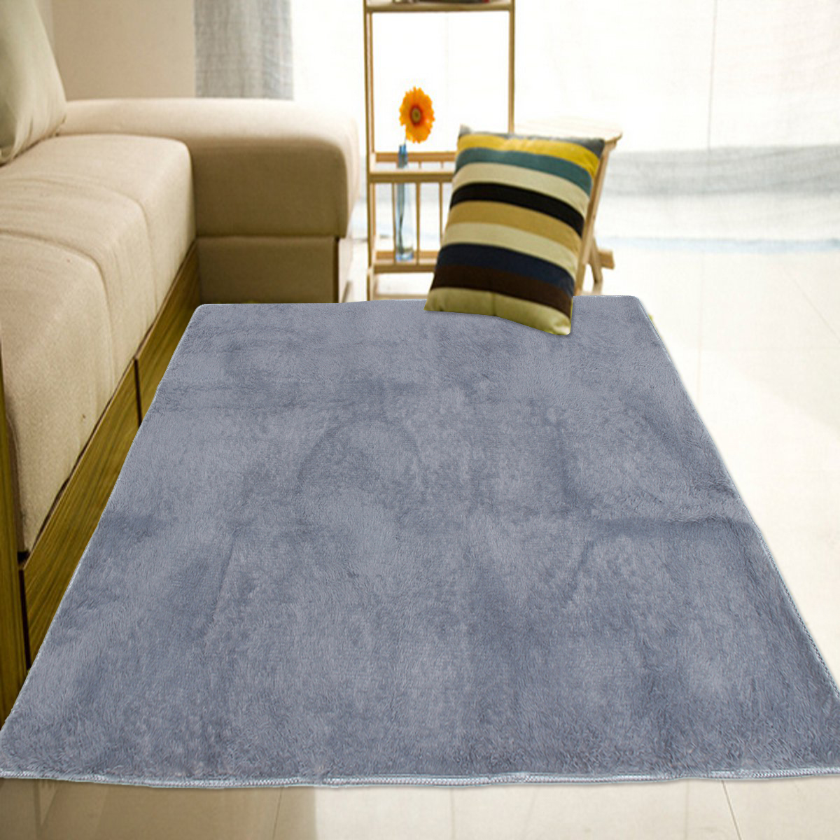 160X120cm Shaggy Fluffy Rugs Anti Skid Area Rug Home Bedroom Living Room  Carpet Floor Mat