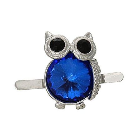 Owl Shoe Clip Buckle with Blue  Crystals ()