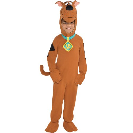 Suit Yourself Zipster Scooby-Doo One Piece Halloween Costume for Boys, Includes Headpiece](Domo Suit)