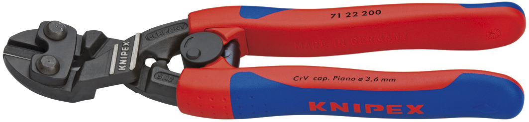 KNIPEX Tools 71 22 200 CoBolt High Leverage Angled Bevel Cut Compact Bolt Cutters with... by KNIPEX Tools