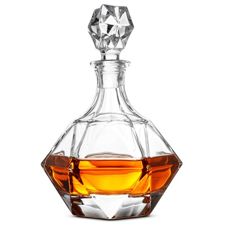 (Glass Whiskey Liquor Decanter - High-End Modern Wine Decanter Weighted Bottom European Design 100% Lead Free Crystal Clear For Scotch, Liquor, Bourbon Etc. Whiskey Decanter With Magnetic Gift Box)