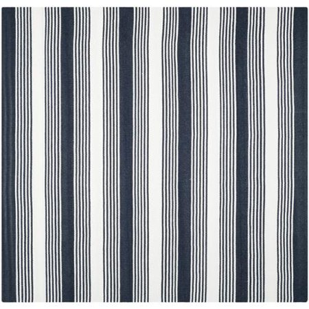 Thom Filicia Hand Woven Indoor Outdoor Navy Plastic Rug