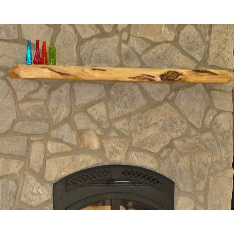 Kettle Moraine Hardwoods Ross Rustic Fireplace Mantel Shelf