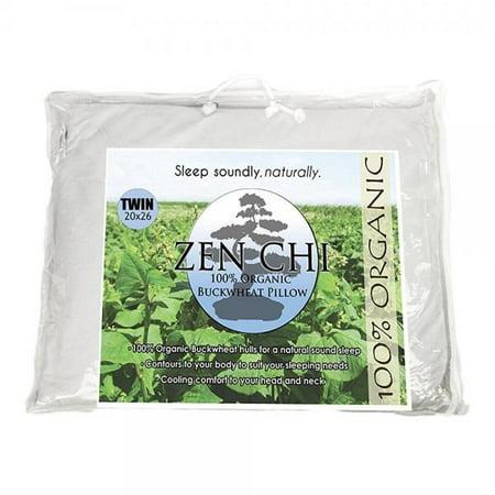 Zen Chi Buckwheat Pillow Organic Buckwheat Pillow - Twin Size (20