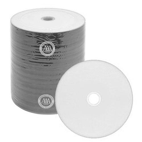 100 Spin-X 52x CD-R 80min 700MB White Thermal Hub Printable