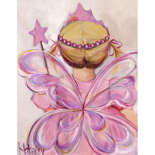 Oopsy Daisy's Little Fairy Princess, Blonde Canvas Wall Art, Size 14x18