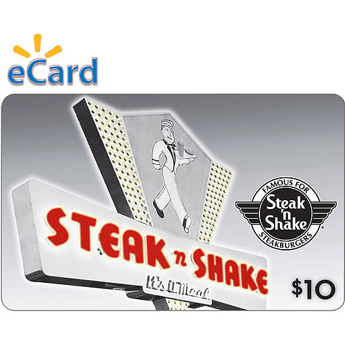 Steak n Shake $10 Card (Email Delivery)