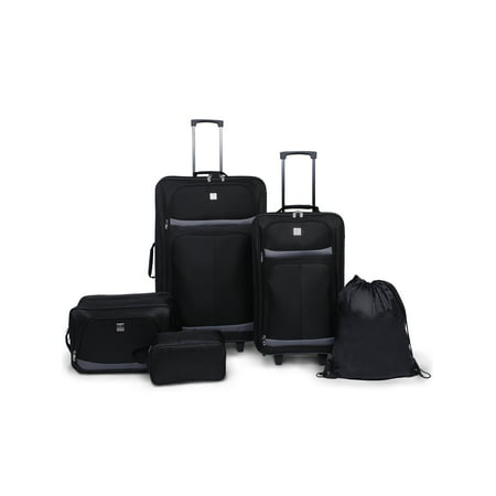 Lite 2 Luggage Collection (Protege 5 Piece 2-Wheel Luggage Value)