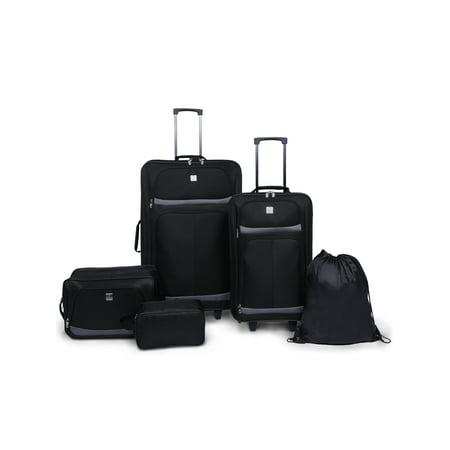 Protege 5 Piece 2-Wheel Luggage Value (Cowhide Leather Luggage Set)