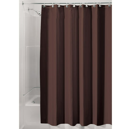 InterDesign Waterproof Fabric Shower Curtain Liner Various Sizes Natural Colors