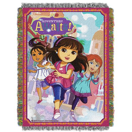 Dora The Explorer Adventure Awaits Woven Tapestry Throw (48inx60in) - image 1 of 1