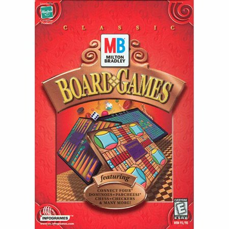Milton Bradley Board Games (Classic Favorites for PC) Chess, Checkers, Connect Four,Parcheesi,Dominoes, (The Best Chess Game For Pc)