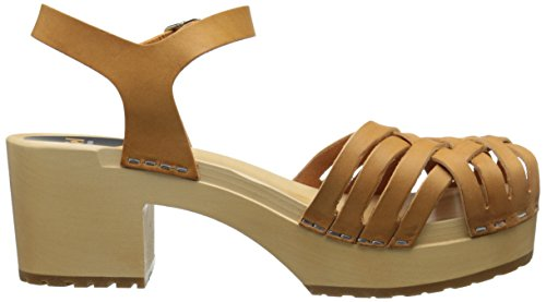 swedish hasbeens Women's Marina Platform Sandal, Nature, 6 M US