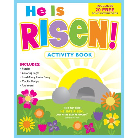 He Is Risen    Activity Book And Free Music Download