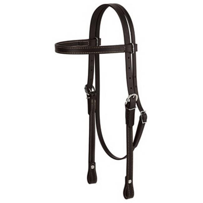 Weaver Leather 35-1999-BK Horse Brahma Webb Browband Headstall, Black