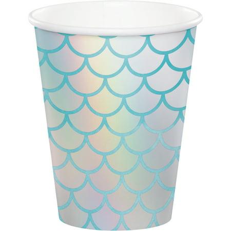 9 Oz. Mermaid Shine paper Cups,Pack of 8 EA