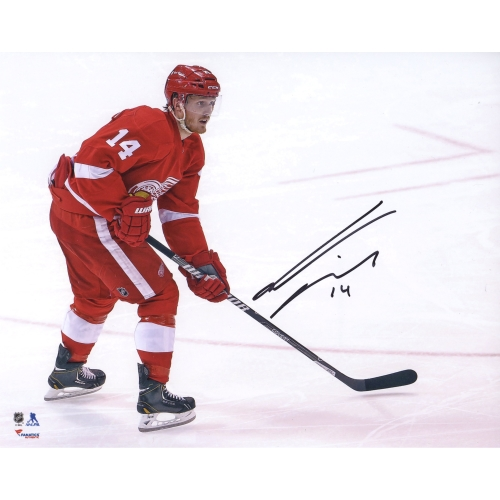 "Gustav Nyquist Detroit Red Wings Fanatics Authentic Autographed 8"" x 10"" Red Jersey Skating Photograph - No Size"
