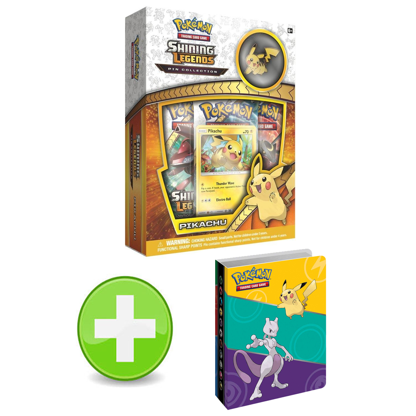 Pokemon Shining Legends Pikachu Pin Collection With XY