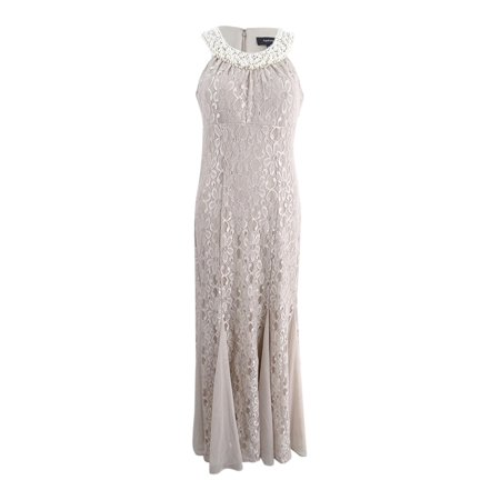 - R&M Richards Women's Embellished Lace Gown (6, Champagne)