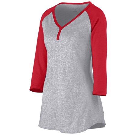 Augusta Sportswear Henley (Augusta Sportswear WOMEN'S RAVE HENLEY 1263)