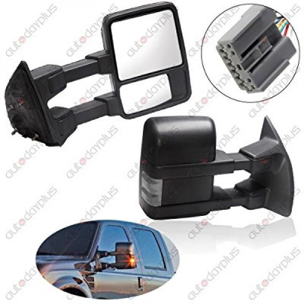 Scitoo Power Heated Led Turn Signal Lights Towing Mirror ...