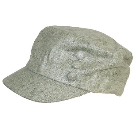 f67a56612b7 Tropic Hats - Women s Tweed Military Cadet 3 Button Hat W Floral Lining  (One Size) - Olive - Walmart.com