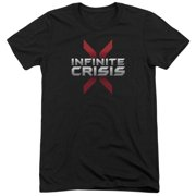 Infinite Crisis Logo Mens Tri-Blend Short Sleeve Shirt