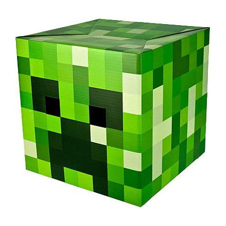 Minecraft Creeper Cardboard Head](Halloween 2017 Minecraft)