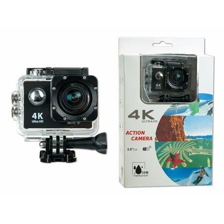 Action Ultra HD 4K WIFI Sports Action Camera Waterproof DV Camcorder 16MP Black