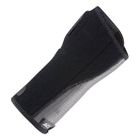 ACE Brand Reversible Splint Wrist Brace, Adjustable, Gray,