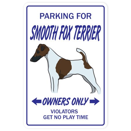 Smooth Fox Terrier novelty sticker | Indoor/Outdoor | Funny Home Décor for Garages, Living Rooms, Bedroom, Offices | SignMission Dog Pet Parking Road Vet Puppy Groomer Gift Wall Plaque Decoration ()