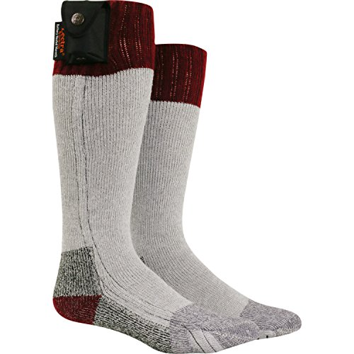 Nordic Gear Unisex Lectra Sox-Electric Battery Heated Socks Large X-Large Maroon by Turtle Fur