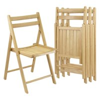 Winsome Wood Robin 4-PC Folding Chair Set, Natural, Multiple Finishes