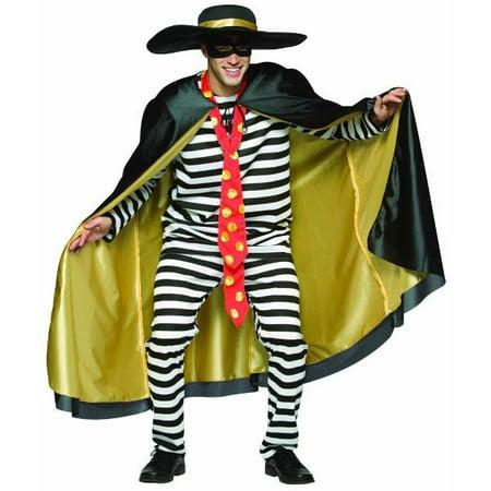 Adult Prison Hamburglar Costume