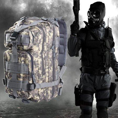 Zeepin Outdoor 30L Tactical Multifunctional Waterproof Oxford Backpack for Camping Traveling Hiking Trekking