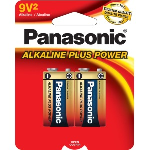 Panasonic Alkaline Plus Battery - AA - Alkaline - 9 V DC - 1 Pack