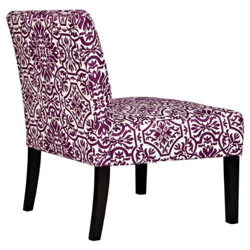 ANGELOHOME Angelo:HOME Bradstreet Modern Damask Provence Purple Upholstered  Armless Chair   Walmart.com
