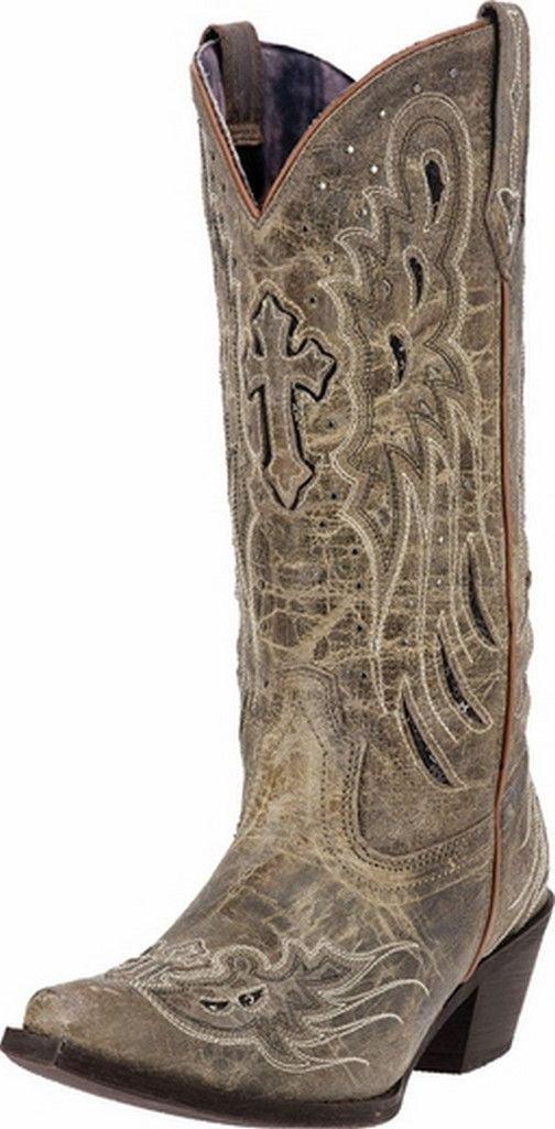 Women's Laredo Cross Wing Cowgirl Boot 52157 by Laredo