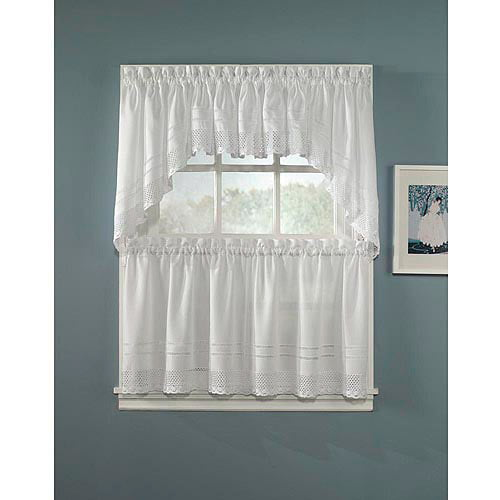 CHF & You Crochet Kitchen Curtains, Set of 2 by CHF Industries, Inc.