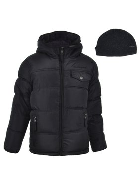 Weatherproof 1948 Boys' Reversible Insulated Jacket with Beanie