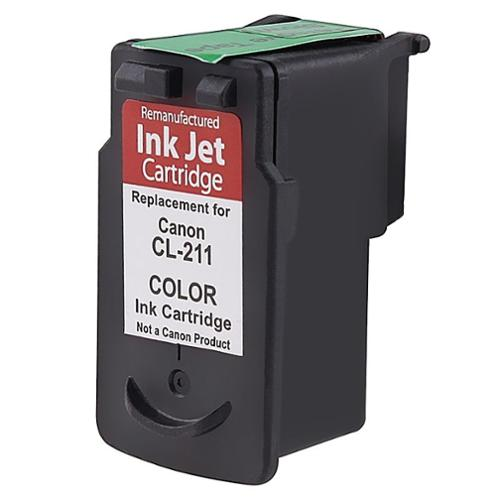 Insten (Remanufactured) Color Ink Cartridge CL-211 CL211 For Canon MX350 MX340