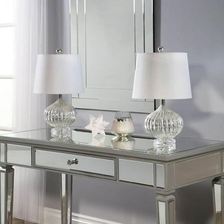 Calla Lily Champagne Flute (Devon & Claire Millie Champagne Glass Table Lamp Set Of 2 )