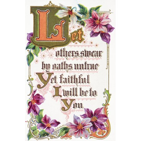 Remsberg Inc / Design Pics Stretched Canvas Art - Quote from vintage greeting card with floral illustrations. - Large 24 x 38 inch Wall Art Decor Size. - Funny Halloween Pics And Quotes