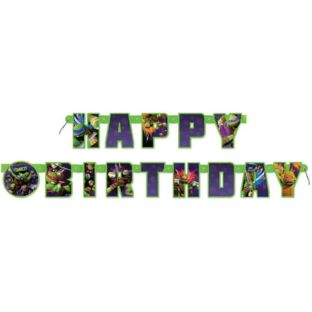 Teenage Mutant Ninja Turtles Birthday Banner, 5.5 ft, 1ct - Ninja Turtles Party Decorations